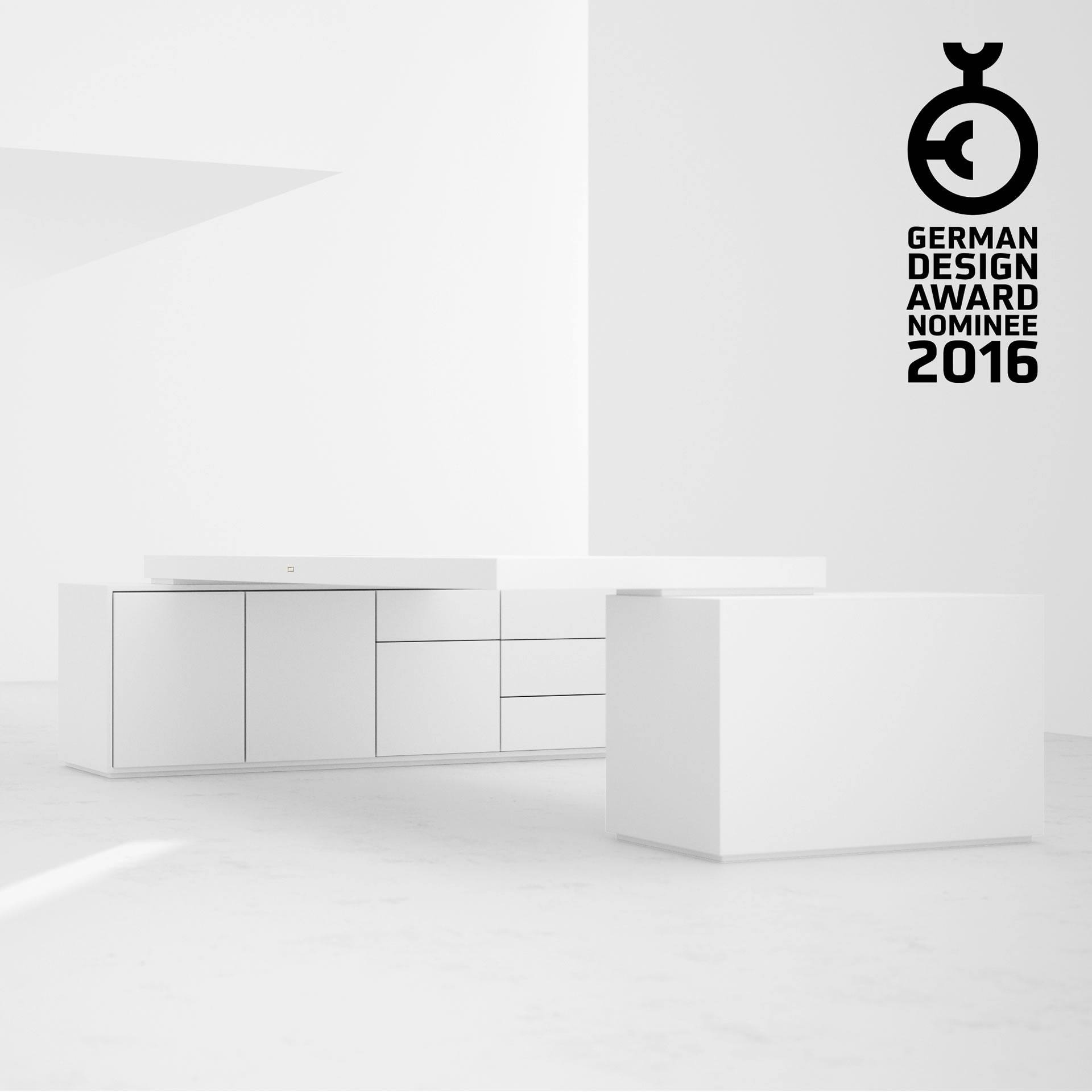 AWARD WINNING GERMAN DESIGNER FELIX SCHWAKE German Design Award 2016 DESK IV 2 Sideboards