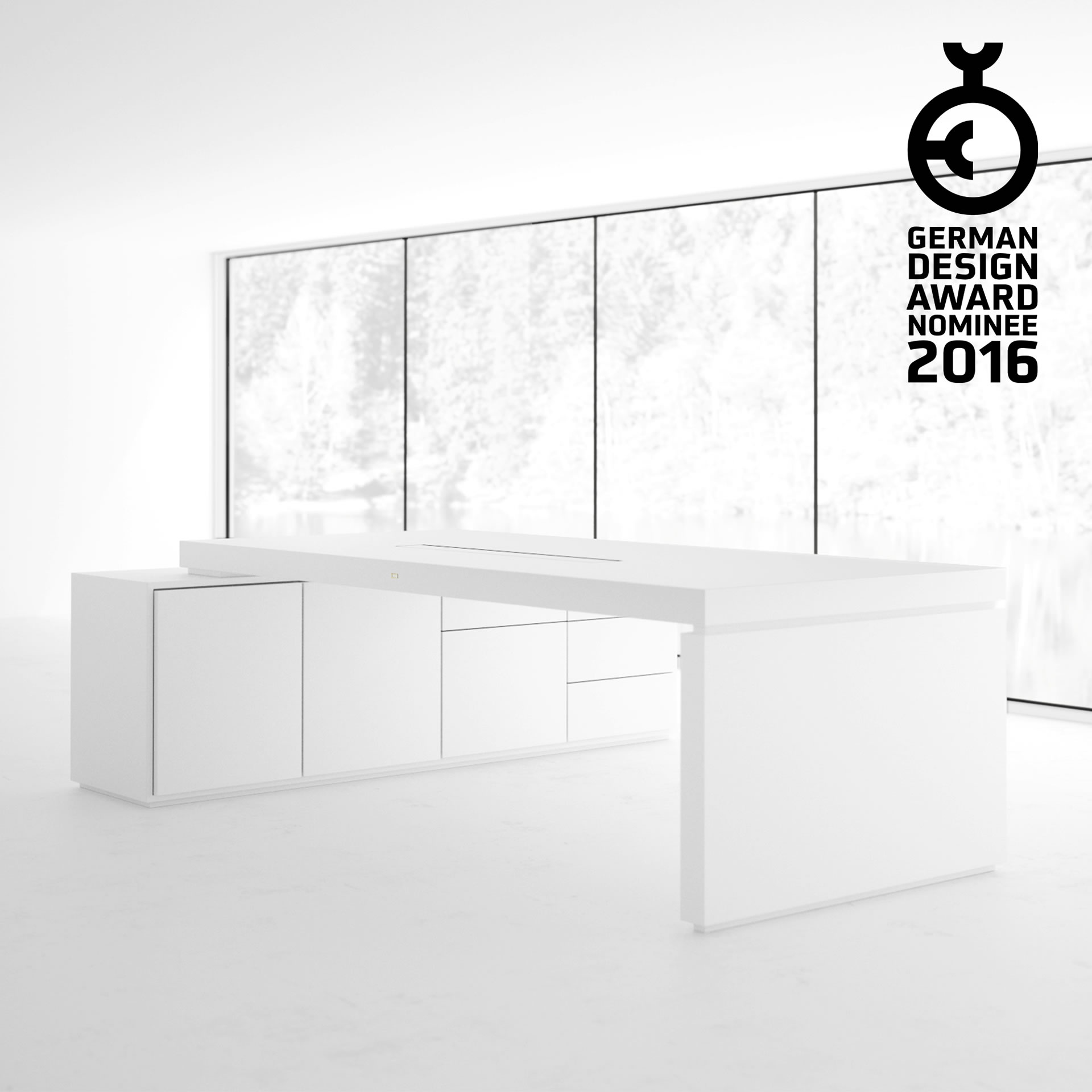 AWARD WINNING GERMAN DESIGNER FELIX SCHWAKE German Design Award 2016 DESK IV Corner Desk