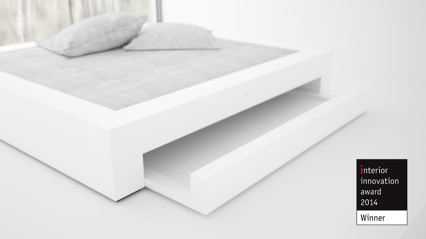 AWARD WINNING GERMAN DESIGNER FELIX SCHWAKE Interior Innovation Award 2014 BED I I with drawers