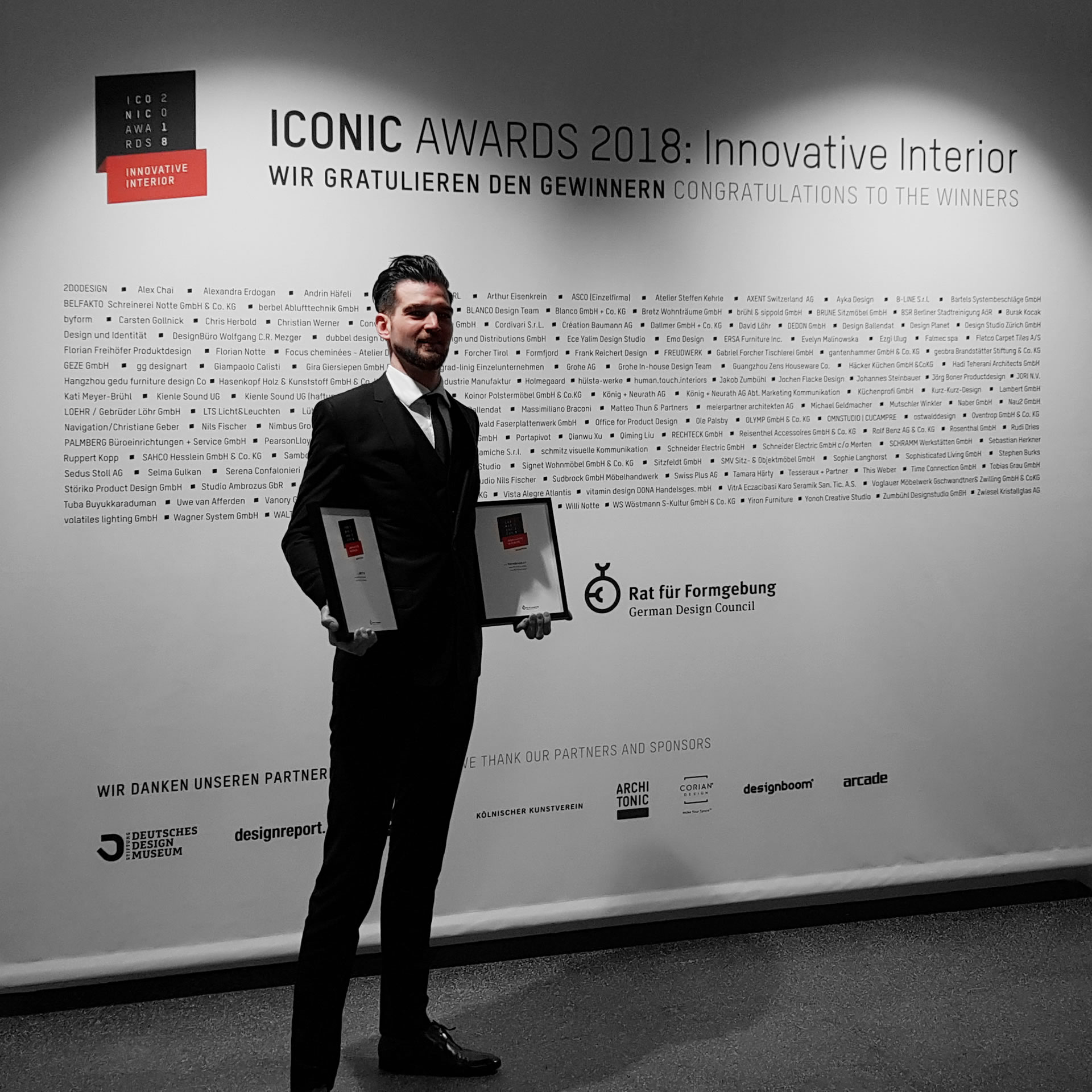 Award Winning Designer FELIX SCHWAKE Iconic Awards 2018