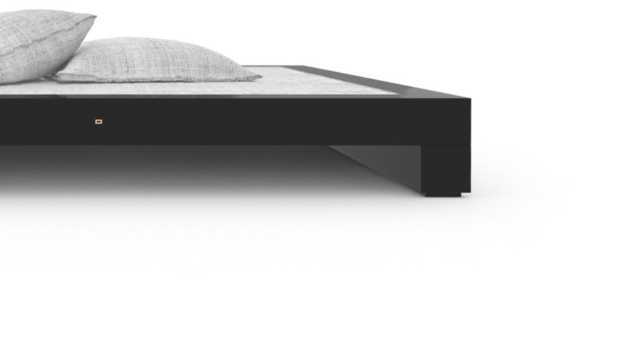 FELIX SCHWAKE BED I High Gloss Black Lacquer Mirror polished Piano Finish Cultivate Designer Bed