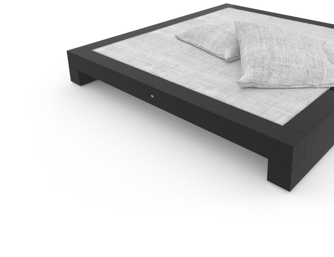 FELIX SCHWAKE BED I High Gloss Black Lacquer Mirror polished Piano Finish Tailor Designer Bed