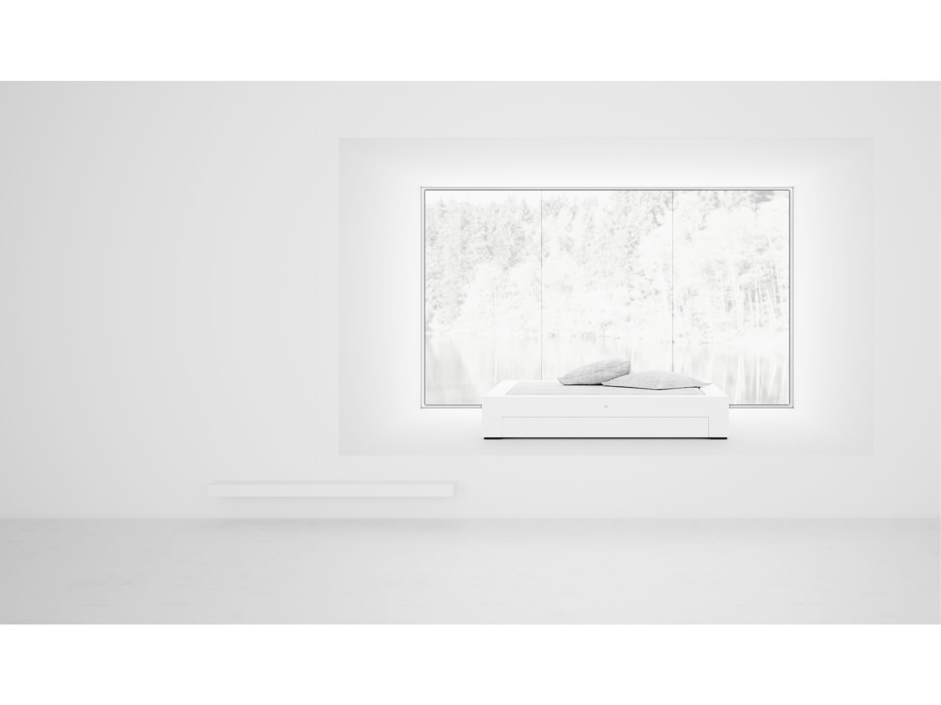 FELIX SCHWAKE BED I I Timeless White Bed with Drawers