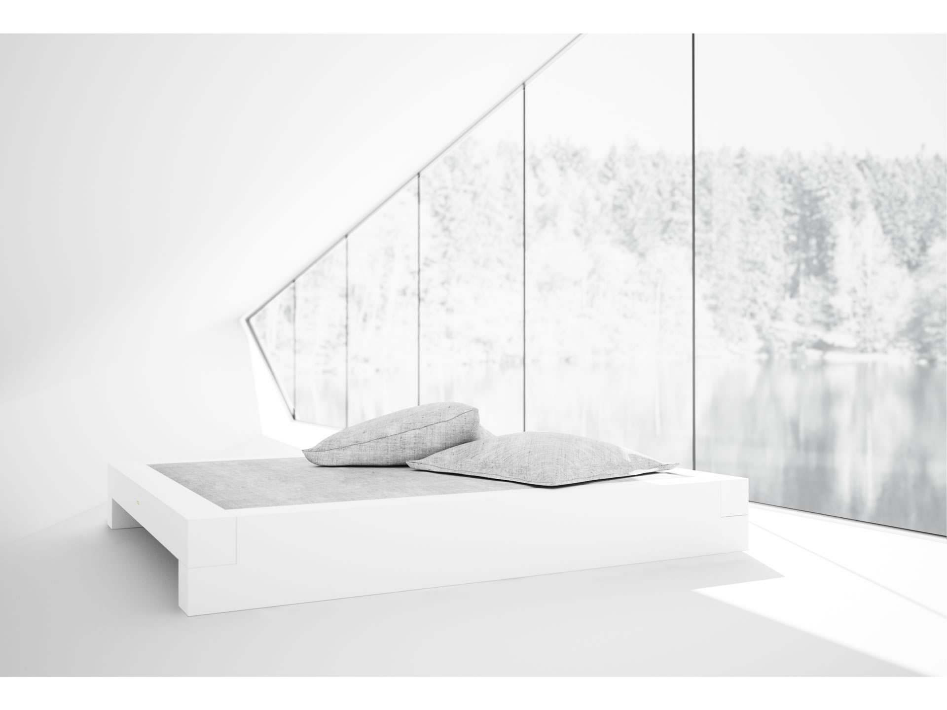 FELIX SCHWAKE BED I Sublime White Designer Bed