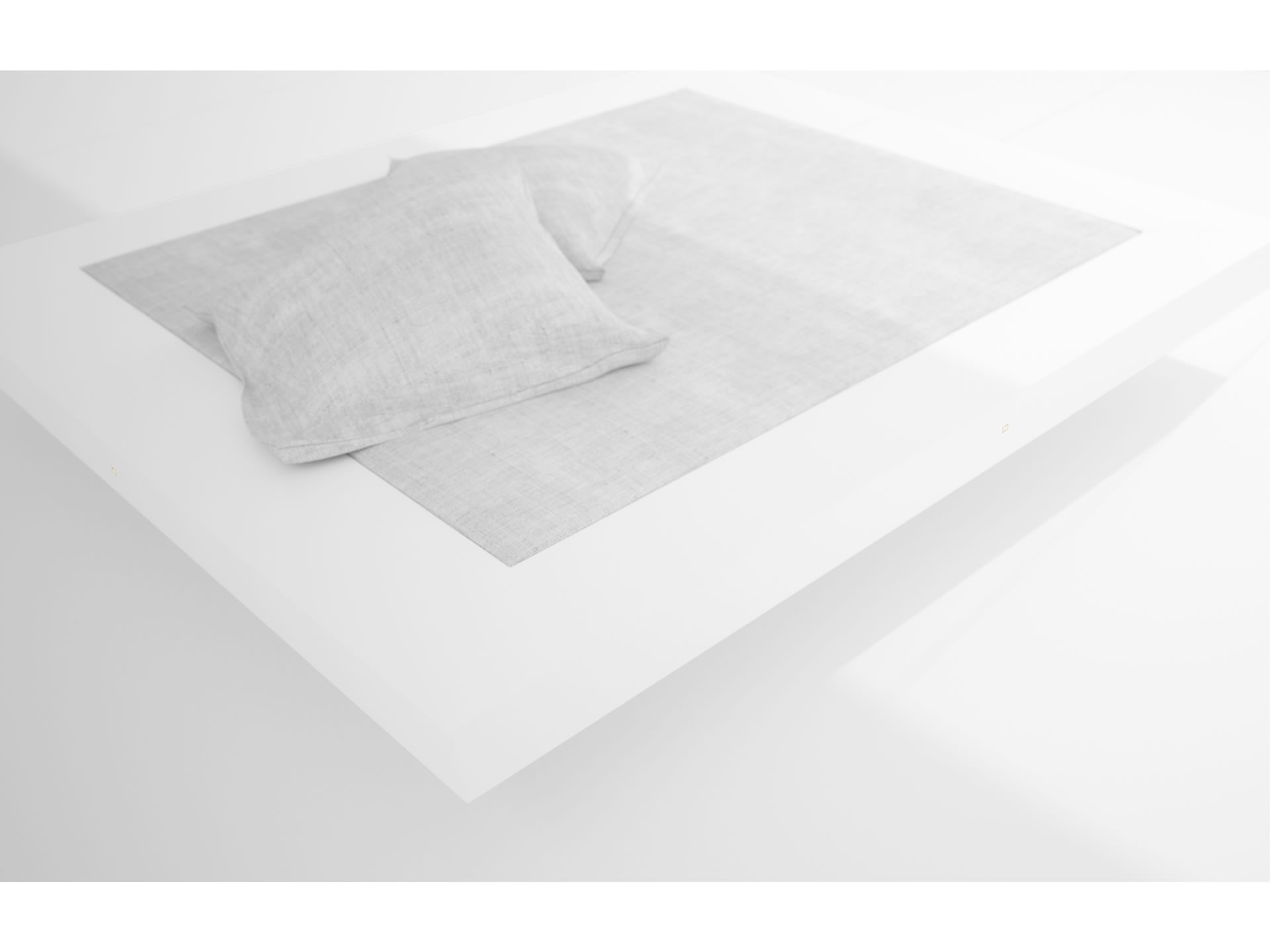 FELIX SCHWAKE BED II Nobel White Bed Floating
