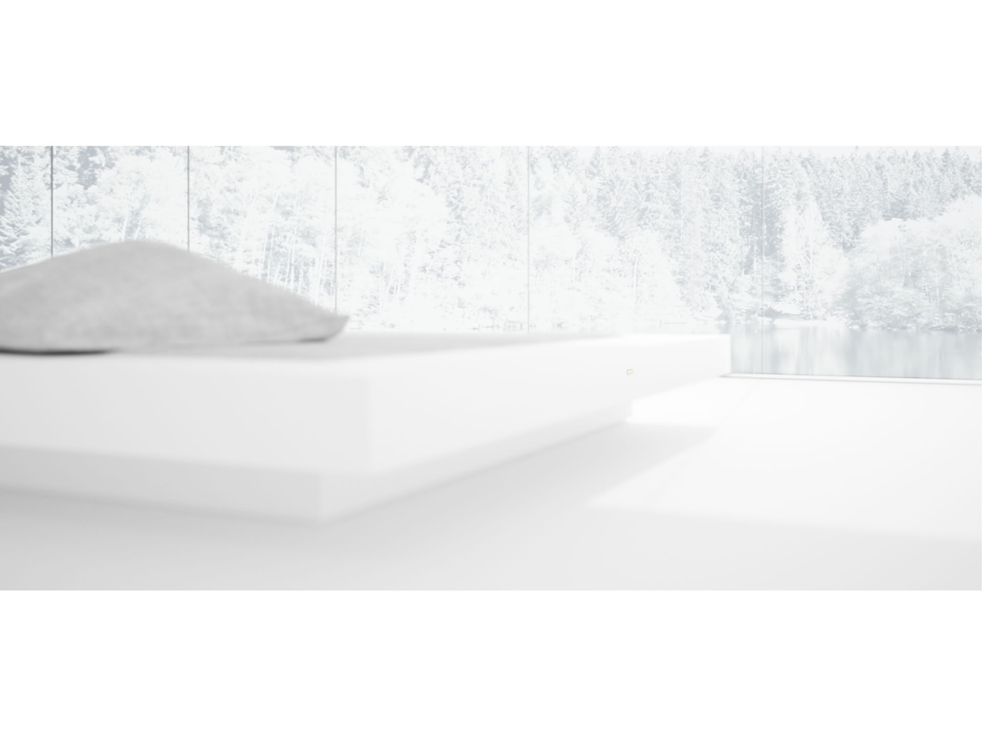 FELIX SCHWAKE BED II Sublime White Bed Floating