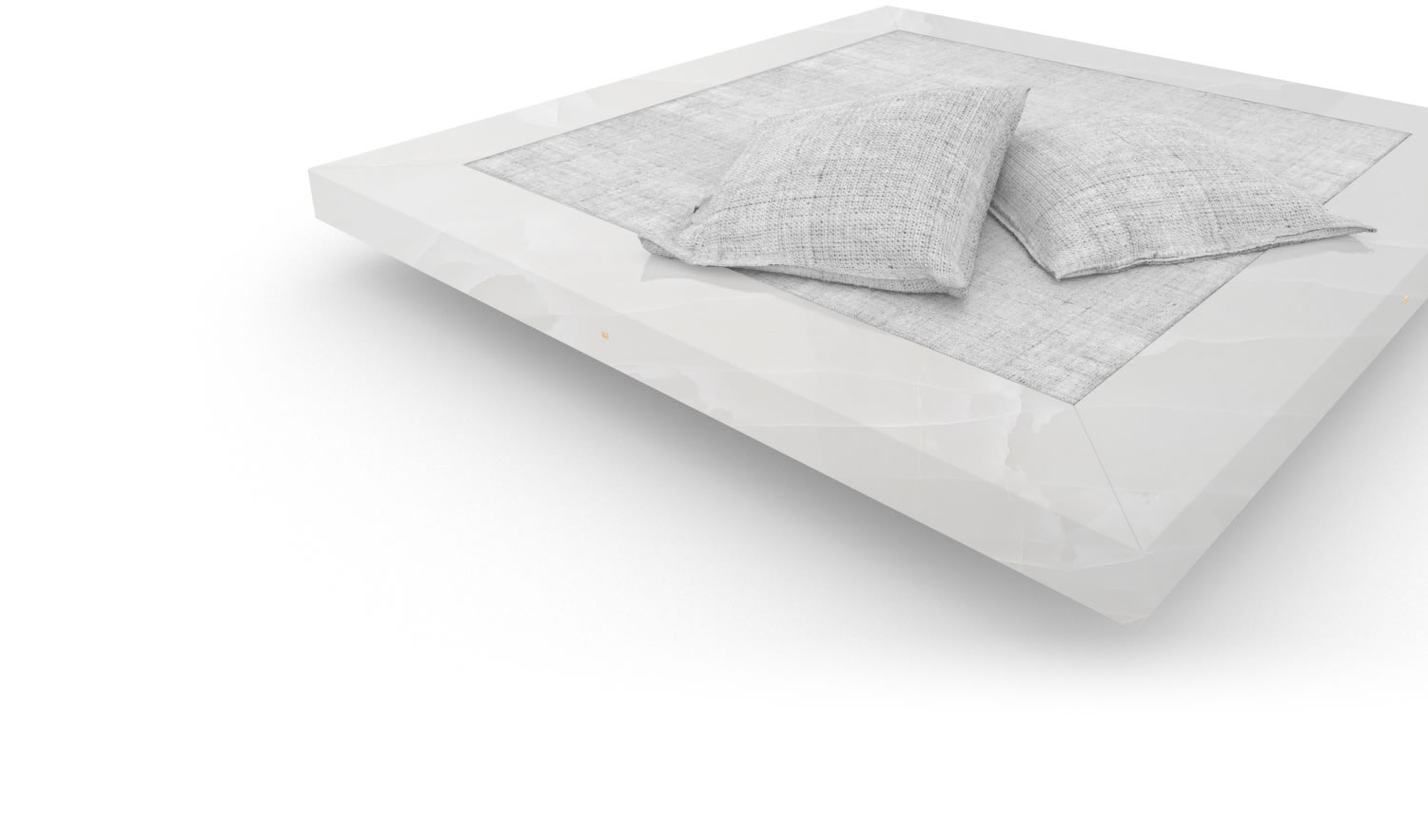 FELIX SCHWAKE BED II onyx marble white modern bed floating