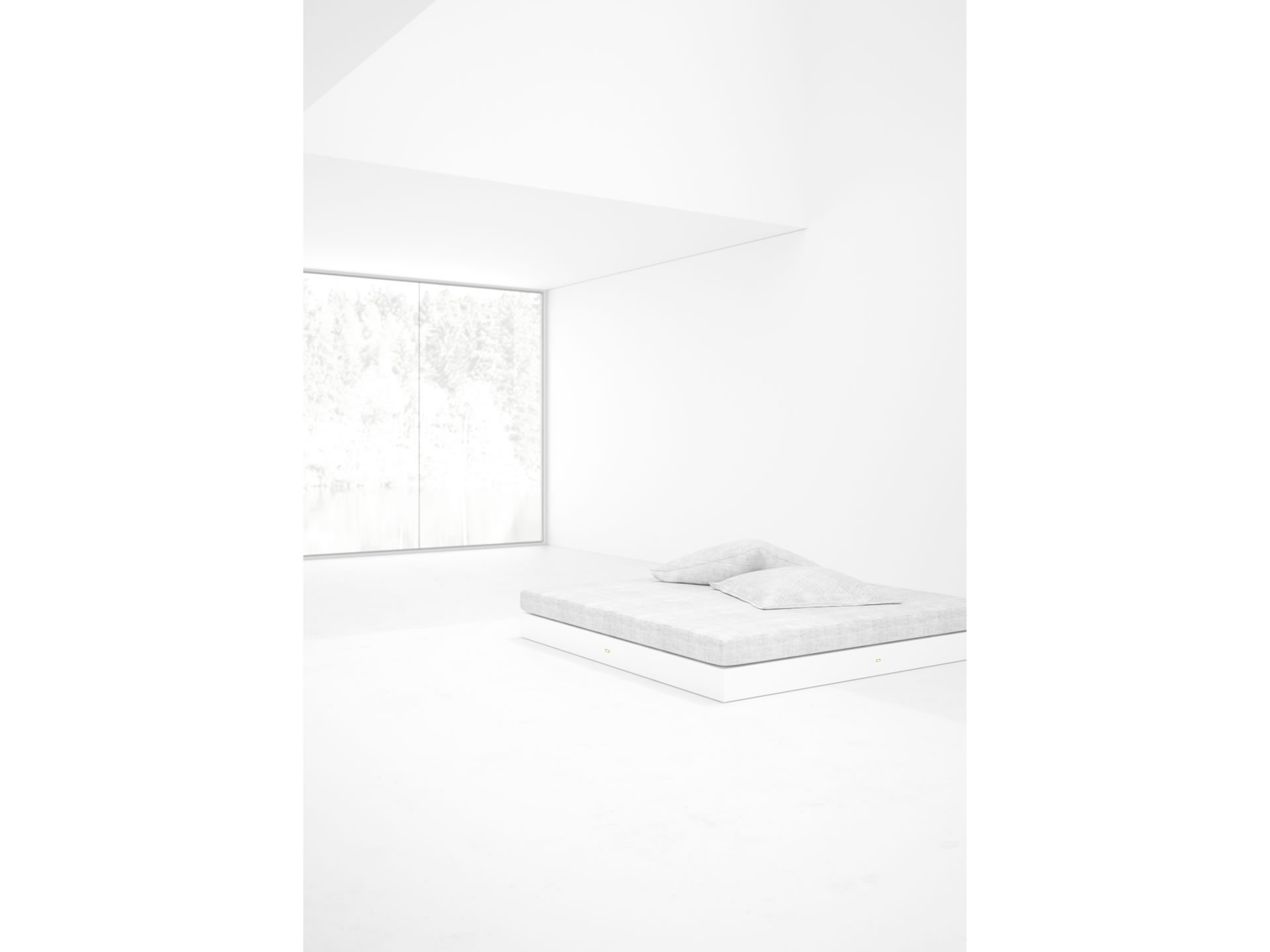 FELIX SCHWAKE BED IV Timeless White Boxspring Bed