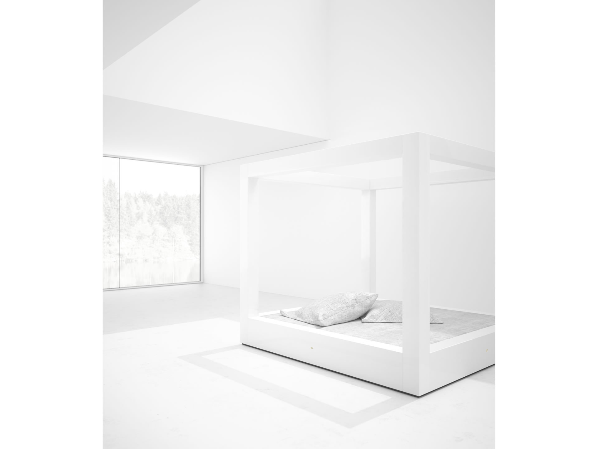 FELIX SCHWAKE BED V Sublime White Canopy Bed