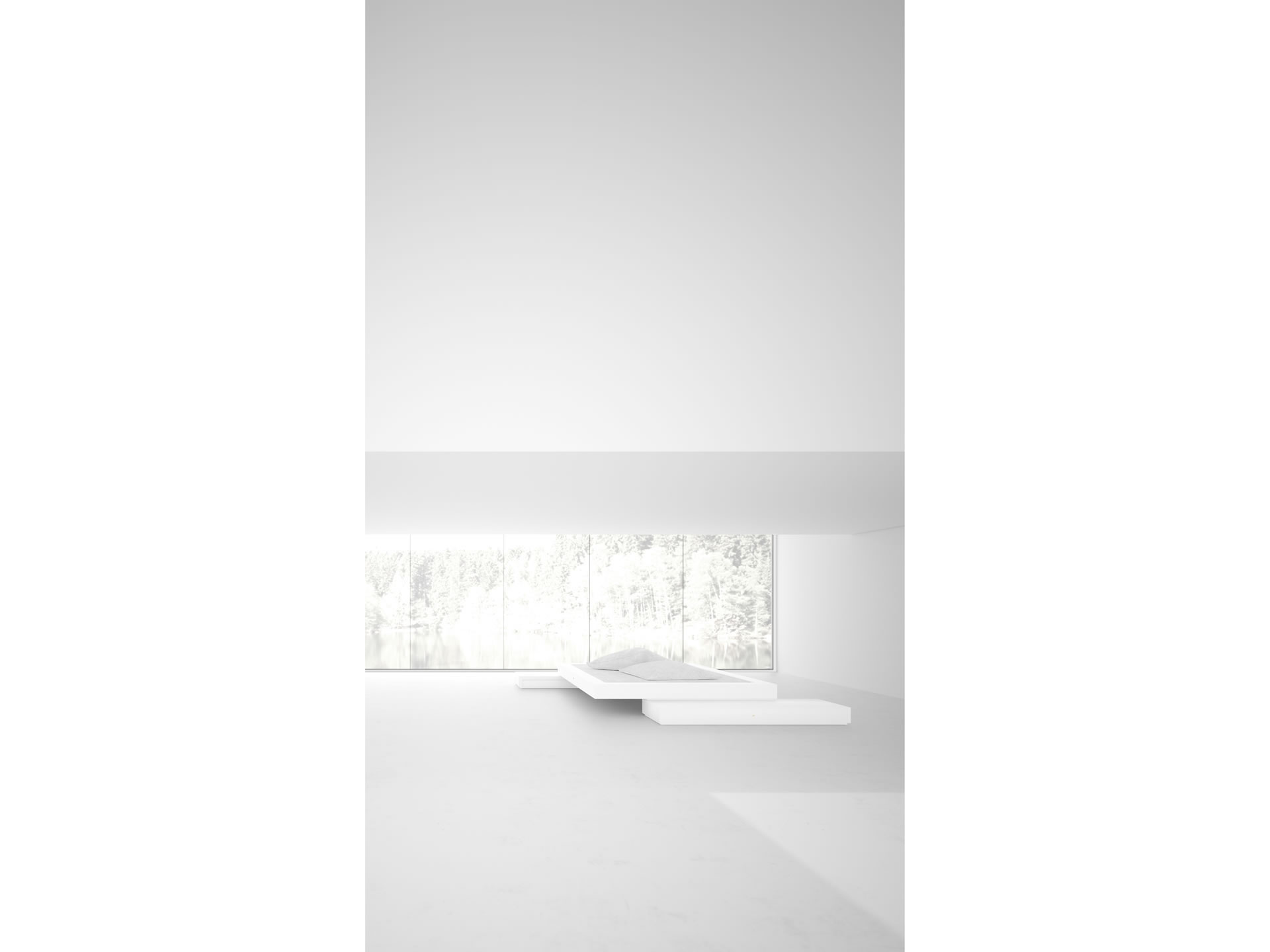 FELIX SCHWAKE BED VI Sublime White Stand Alone Bed
