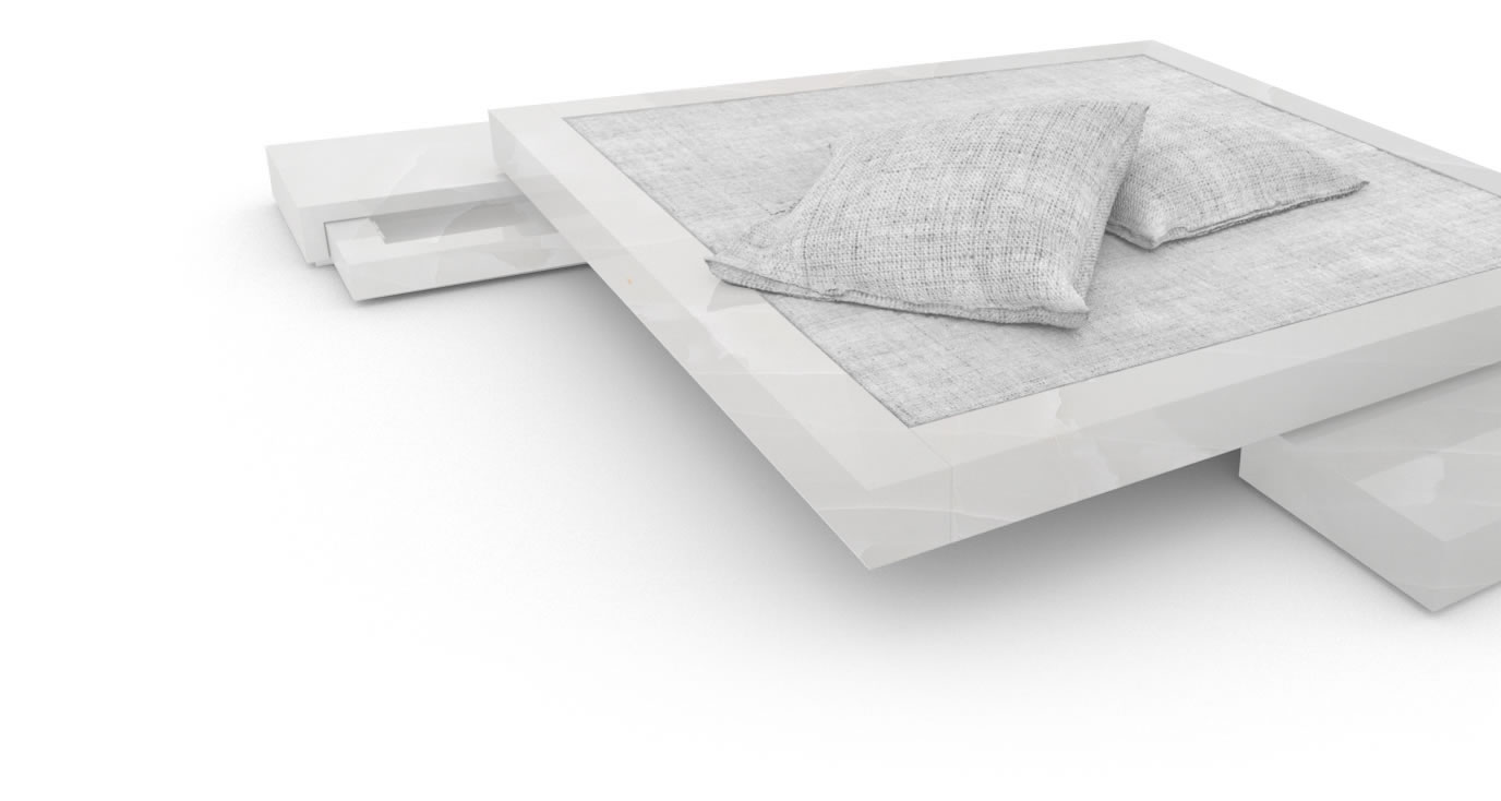 FELIX SCHWAKE BED VI onyx marble white modern design bed