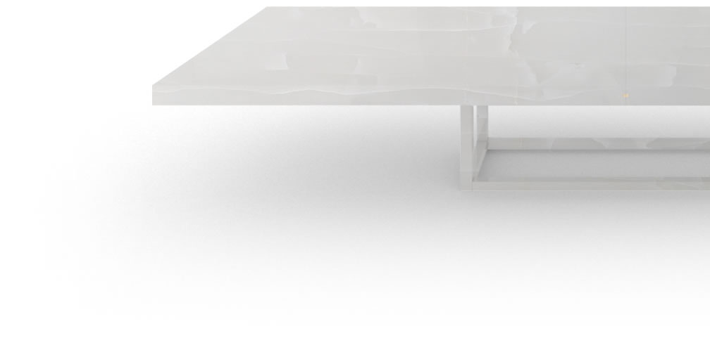 FELIX SCHWAKE BOARDROOM TABLE II III large onyx marble white exclusive large boardroom table open leg