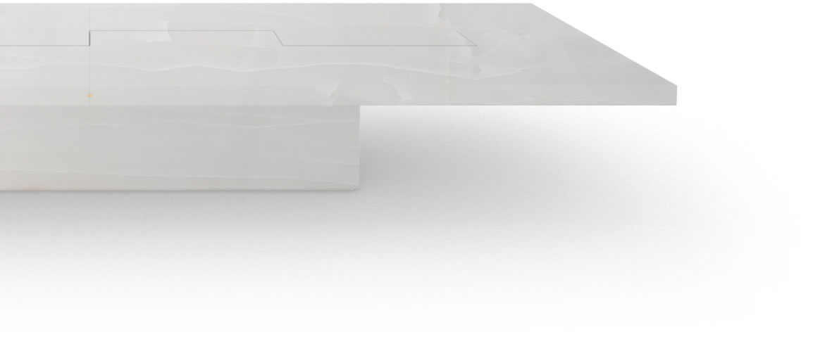 FELIX SCHWAKE BOARDROOM TABLE II IV very large onyx marble white classical very large boardroom table