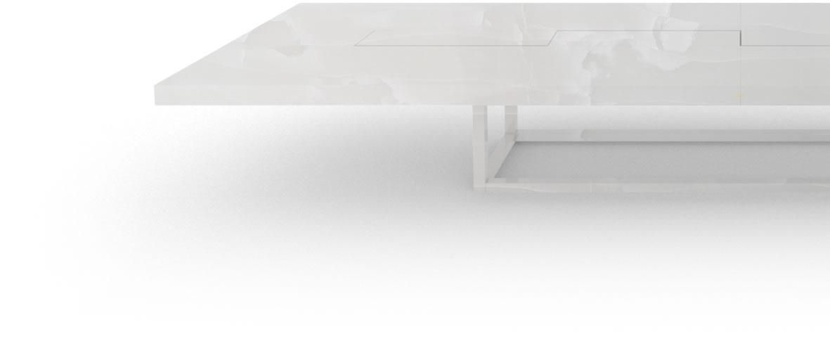 FELIX SCHWAKE BOARDROOM TABLE II IV very large onyx marble white exclusive very large boardroom table open leg