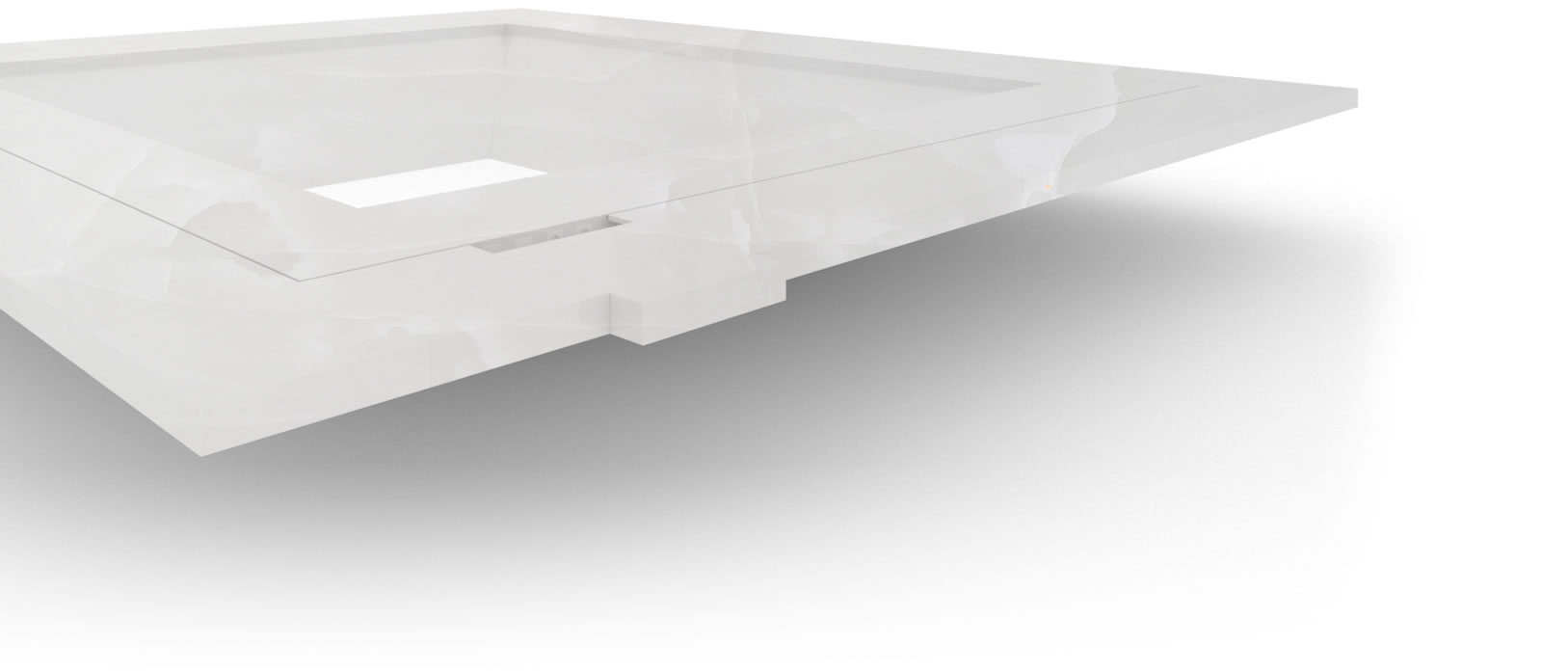 FELIX SCHWAKE BOARDROOM TABLE IV I courtyard structure onyx marble white modern courtyard boardroom table structure