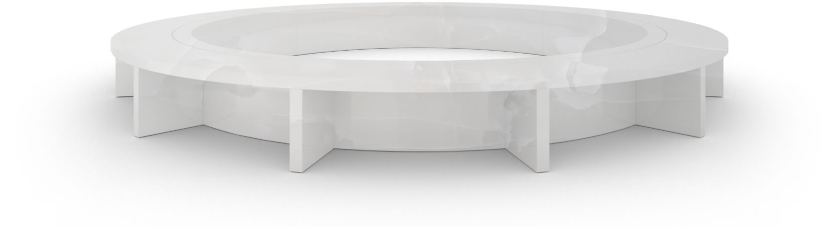 FELIX SCHWAKE BOARDROOM TABLE VI oval structure onyx marble white minimalist oval boardroom table structure