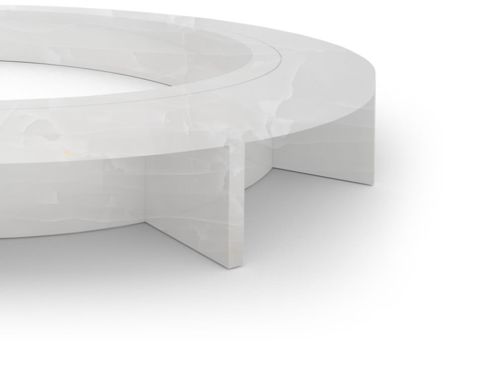 FELIX SCHWAKE BOARDROOM TABLE VI oval structure onyx marble white modern oval boardroom table structure