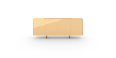 FELIX SCHWAKE CABINET II II Sideboard Gold Hand Crafted Artwork