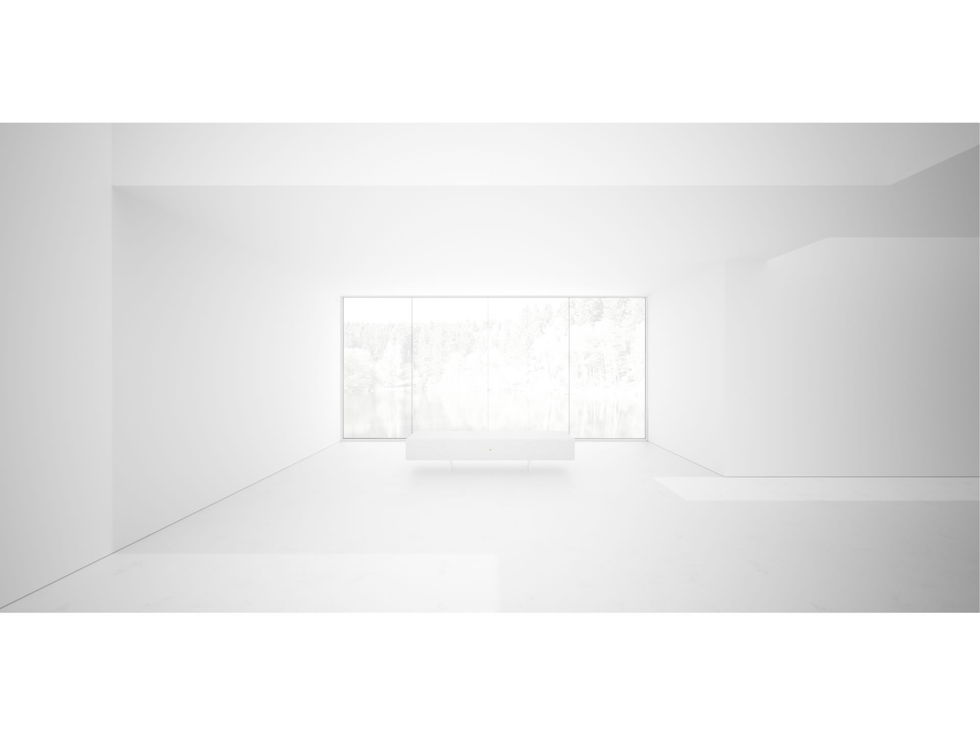 FELIX SCHWAKE CHAIR IV Timeless White Bench Closed Geometry