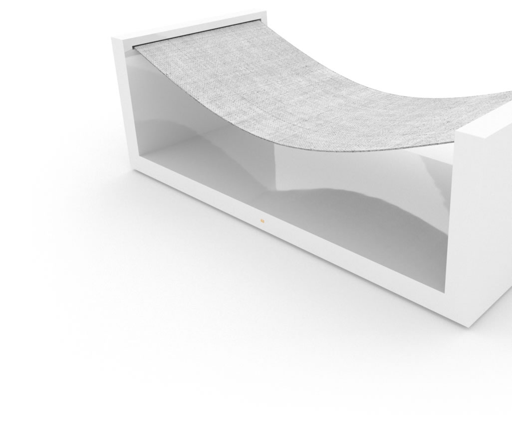 FELIX SCHWAKE CHAIR V High Gloss White Lacquer Mirror polished Piano Finish Minimalist Hammock