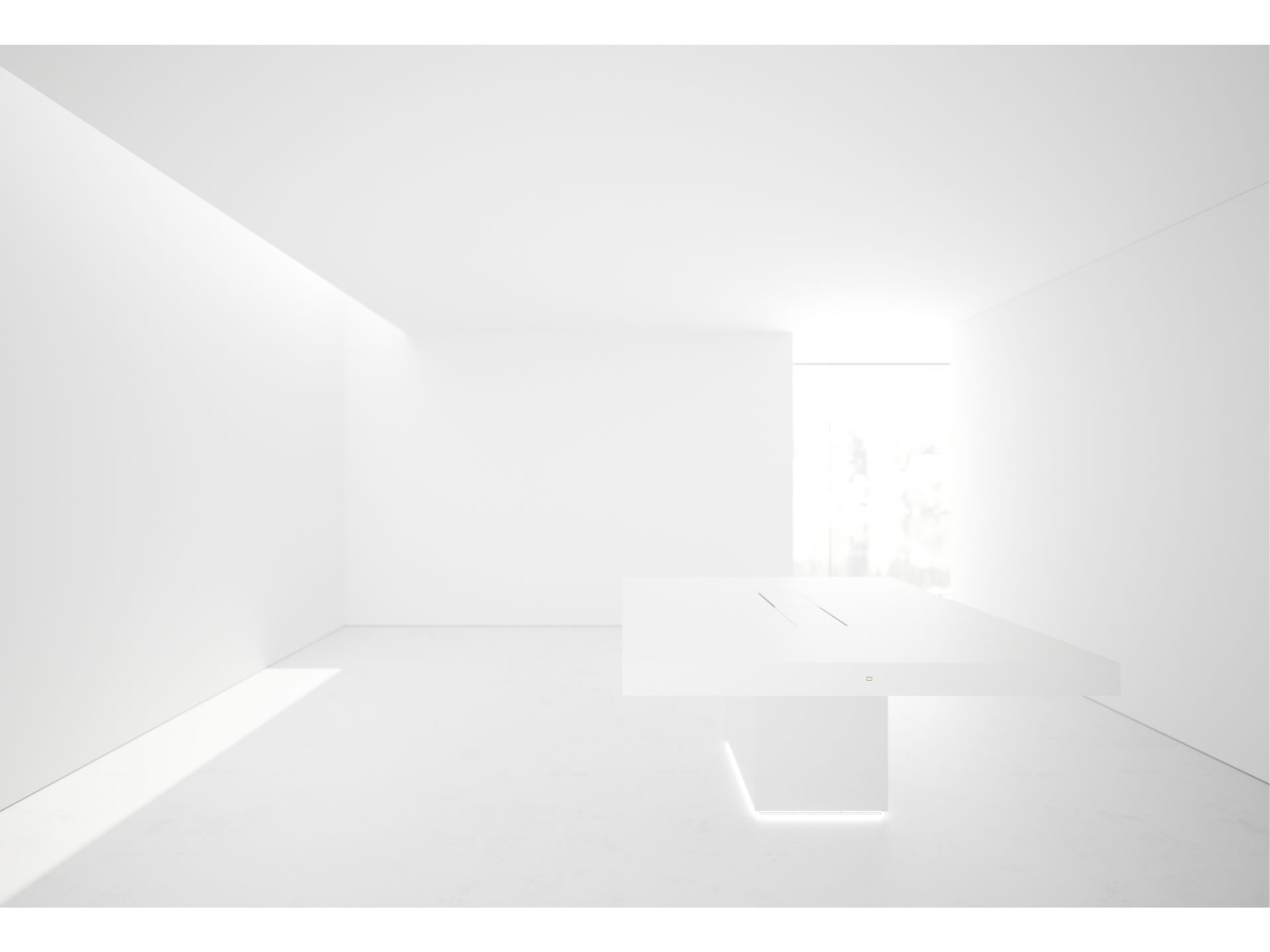 FELIX SCHWAKE CONFERENCE TABLE II I Sublime White Meeting Table