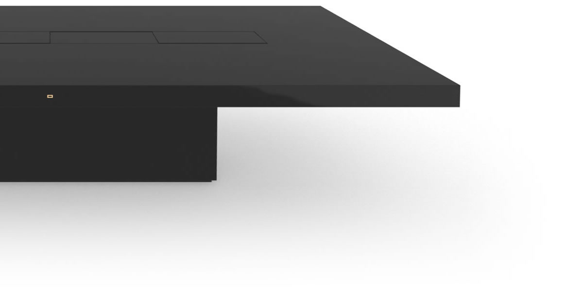 FELIX SCHWAKE CONFERENCE TABLE II II High Gloss Black Lacquer Mirror polished Piano Finish Tailor Made Conference Table