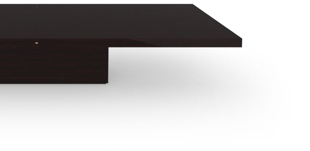 FELIX SCHWAKE CONFERENCE TABLE II III Big High Gloss Makassar Ebony Black Precious Wood Mirror Polish Piano Finish Sublime Large Conference Table