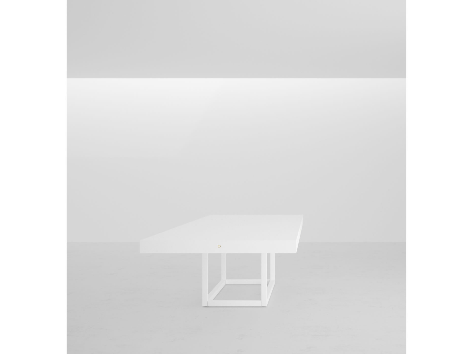 CONFERENCE TABLE ICONIC PIANO LACQUER WHITE FELIX SCHWAKE - Large white conference table