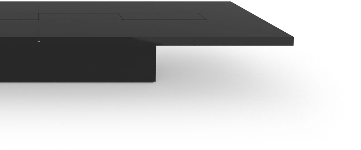 FELIX SCHWAKE CONFERENCE TABLE II IV Huge High Gloss Black Lacquer Mirror polished Piano Finish Tailor Made Conference Table Massive