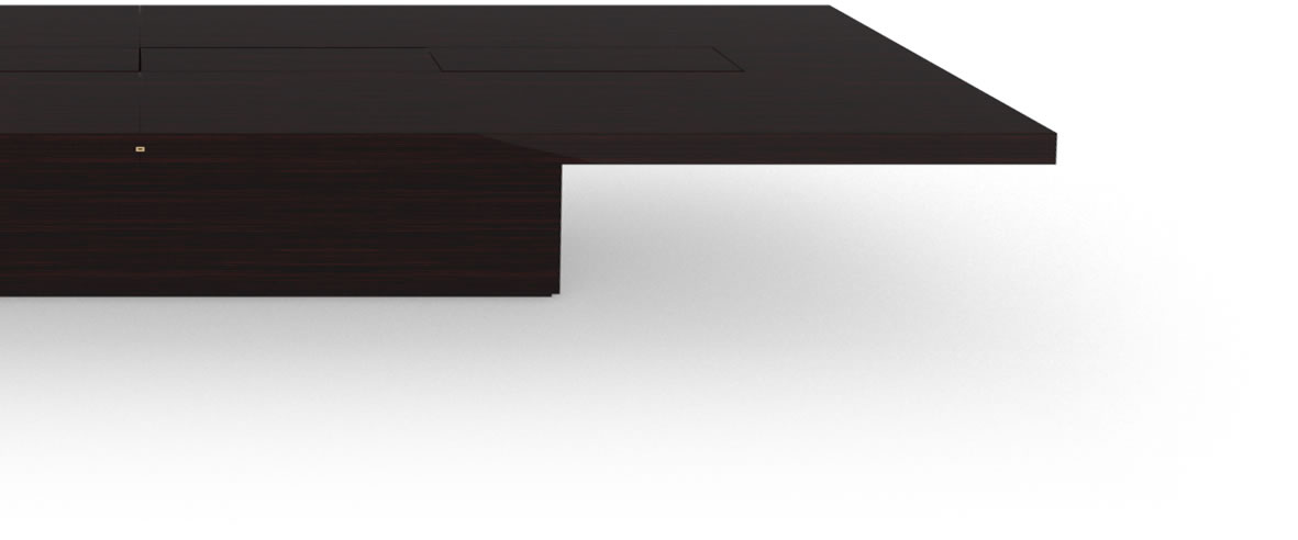 FELIX SCHWAKE CONFERENCE TABLE II IV Huge High Gloss Makassar Ebony Black Precious Wood Mirror Polish Piano Finish Custom Made Conference Table Massive