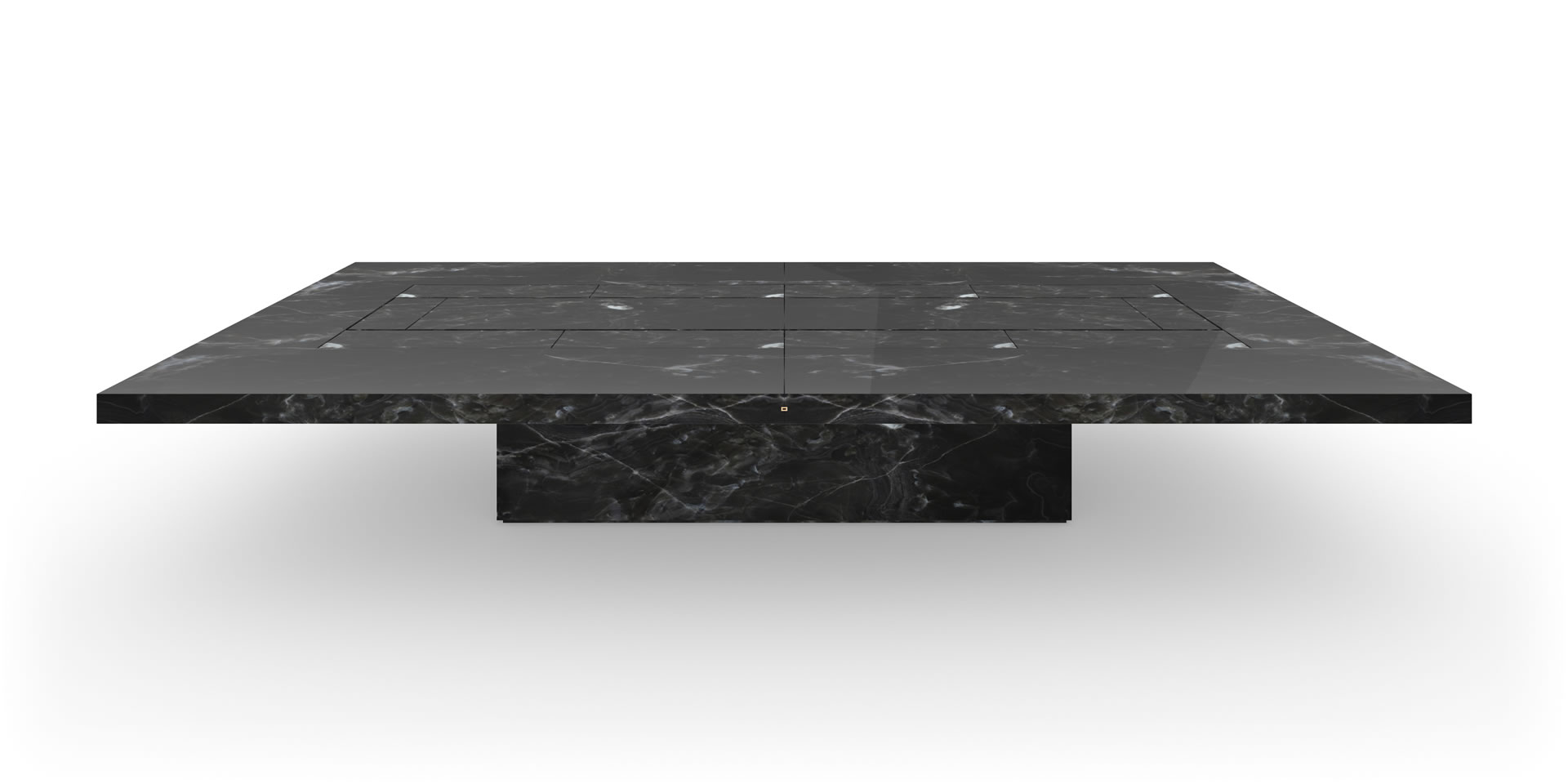 CONFERENCE TABLE IIV MARBLE BLACK FELIX SCHWAKE - White marble conference table