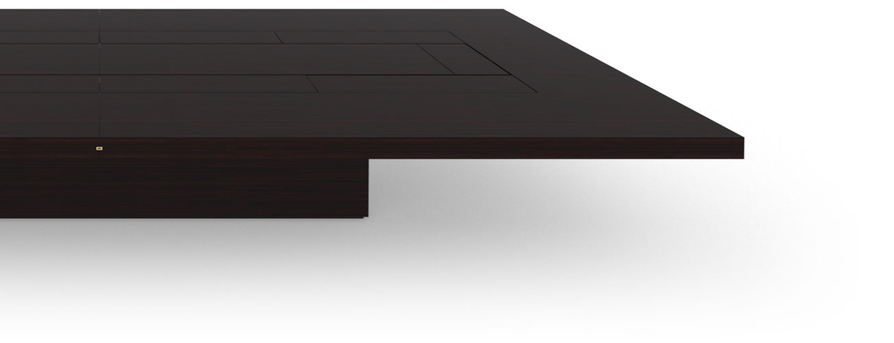 FELIX SCHWAKE CONFERENCE TABLE II V Massive Structure High Gloss Makassar Ebony Black Precious Wood Mirror Polish Piano Finish Noble Boardroom Table System Huge
