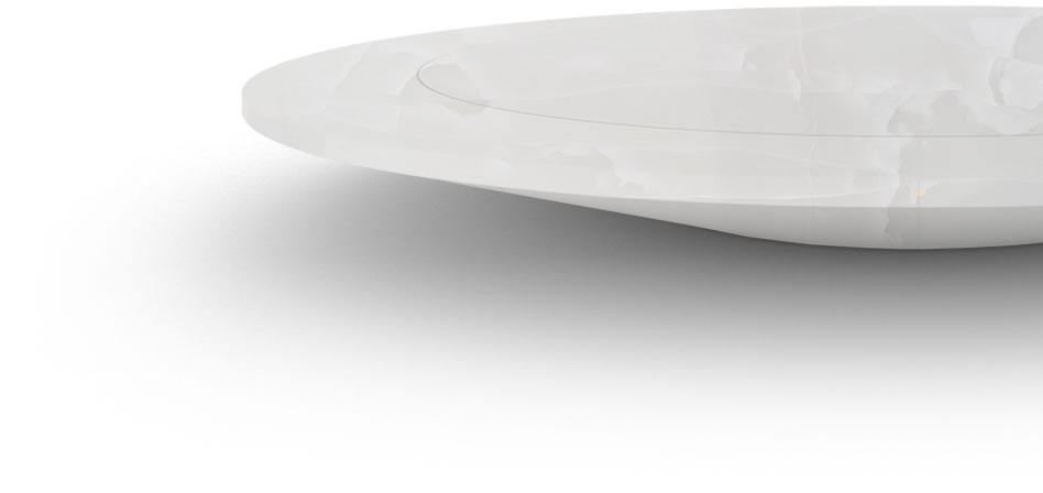 FELIX SCHWAKE CONFERENCE TABLE V Ring Structure Onyx Marble White Modern Circular Boardroom Table Massive