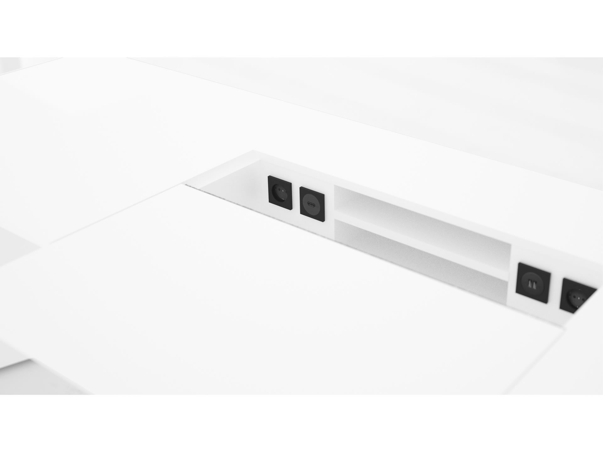 FELIX SCHWAKE DESK I Customize White Designer Desk with Extensible Desk Pad
