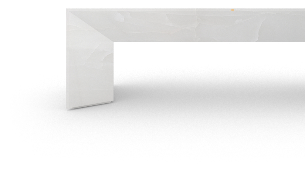 FELIX SCHWAKE DESK I I large onyx marble white sober design desk with excerp