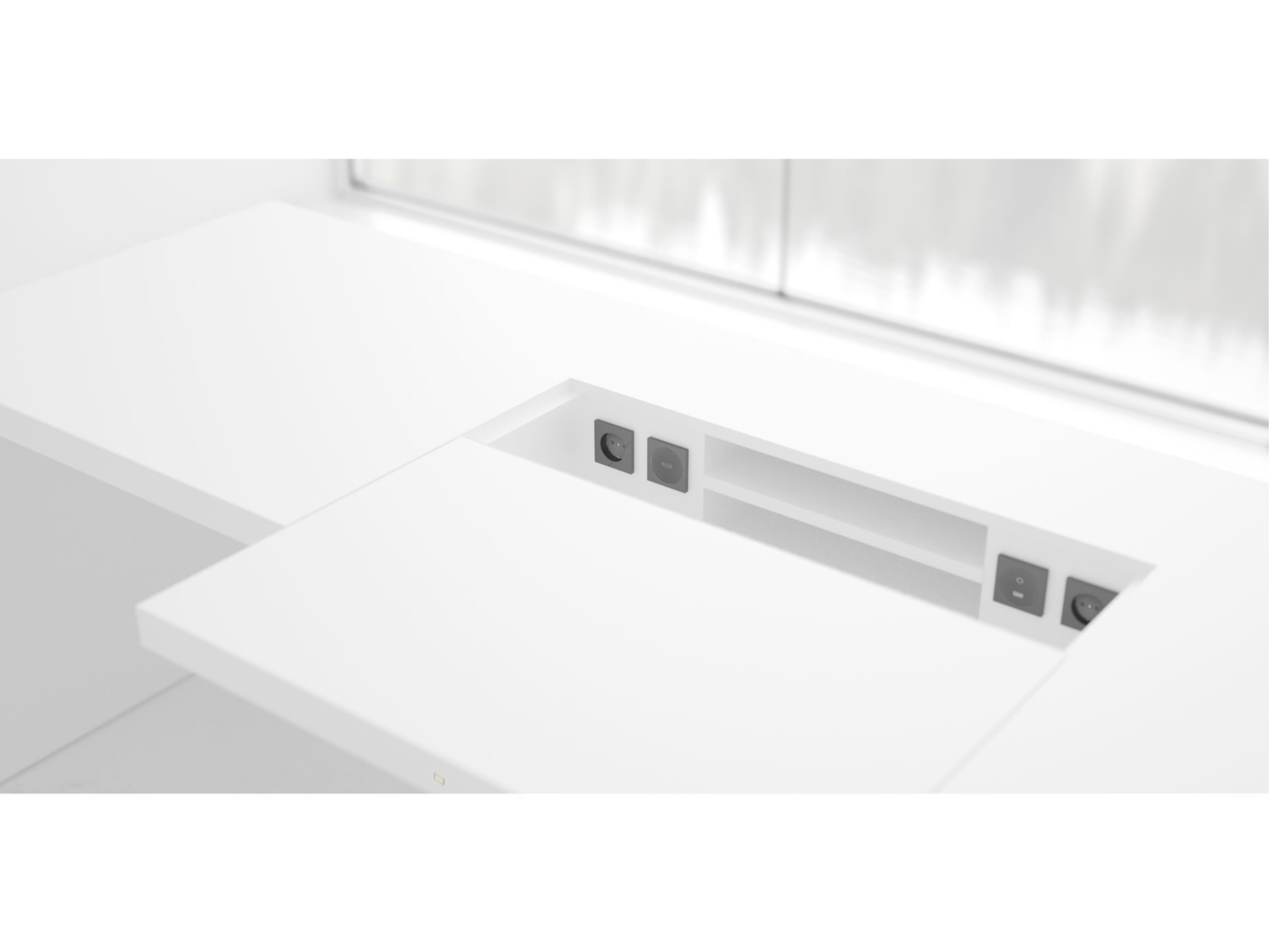 FELIX SCHWAKE DESK II Cultivate White Desk Big with Closed Front