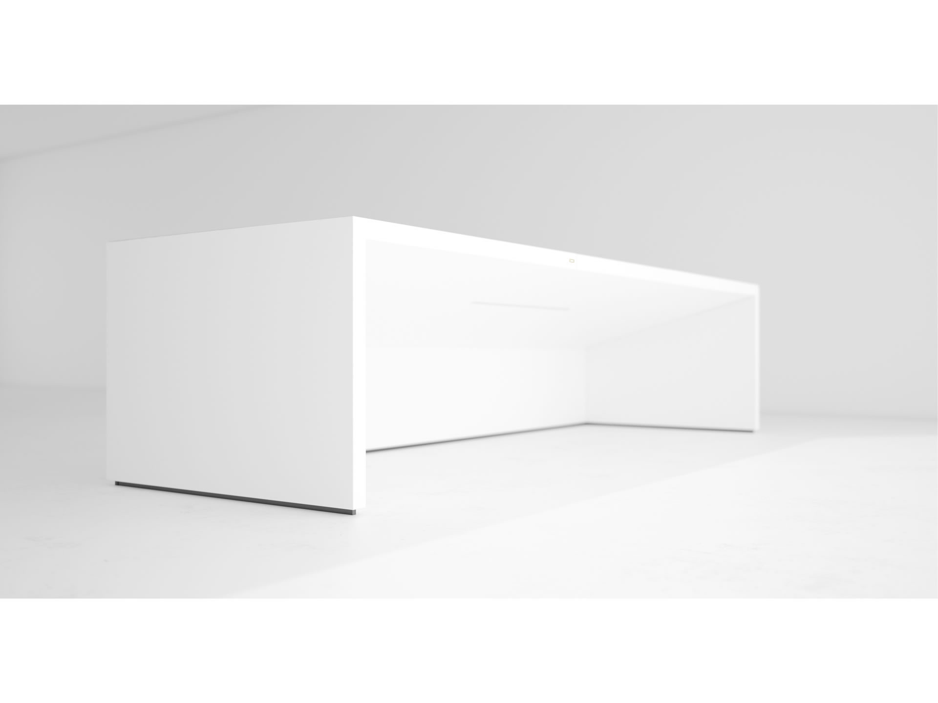 FELIX SCHWAKE DESK II Nobel White Desk Big with Closed Front