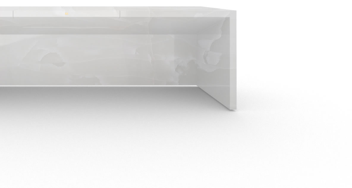 FELIX SCHWAKE DESK II onyx marble white sober desk large closed front