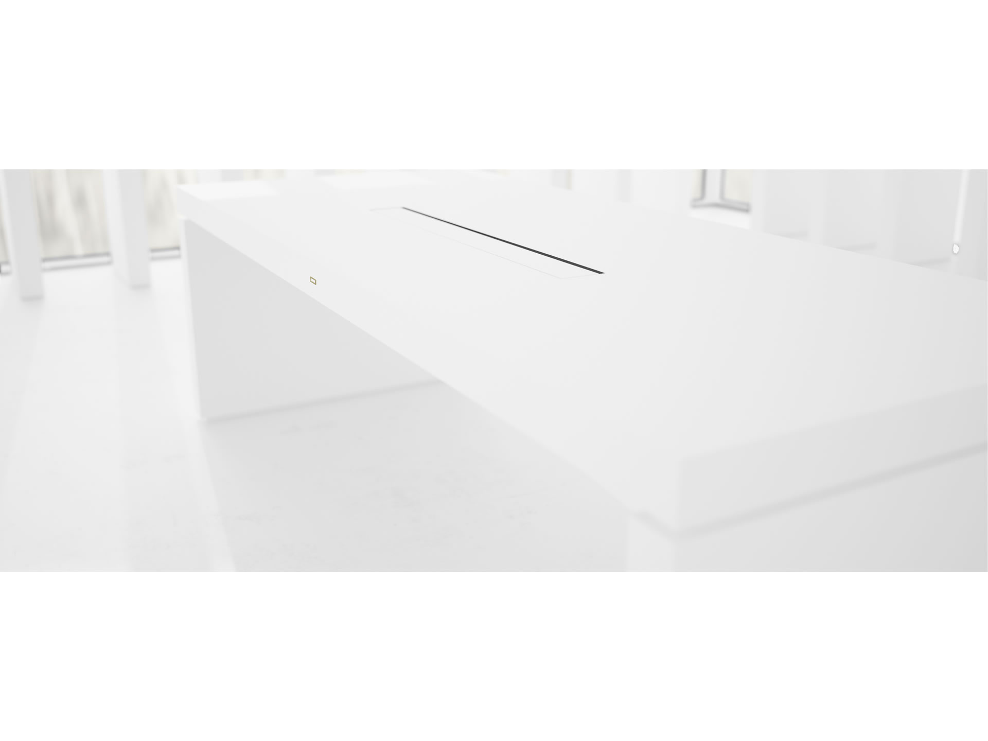 FELIX SCHWAKE DESK IV Nobel White Executive Desk