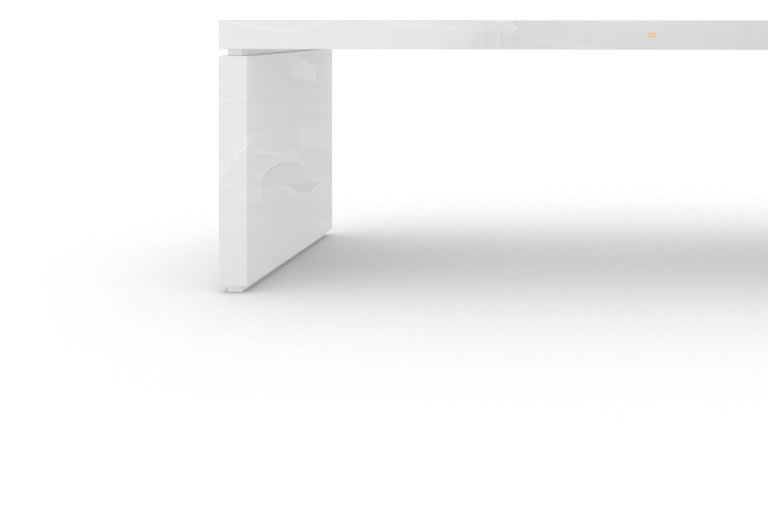FELIX SCHWAKE DESK IV onyx marble white modern chief desk