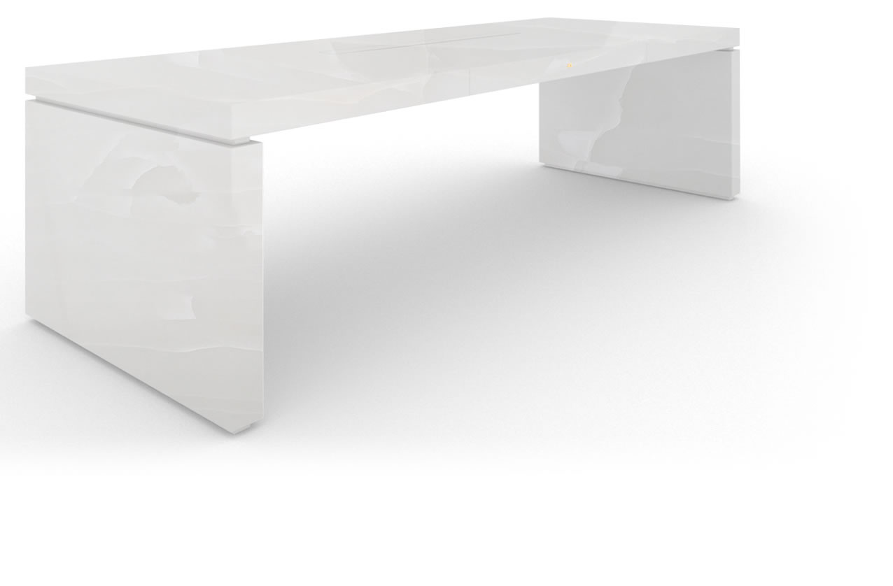FELIX SCHWAKE DESK IV onyx marble white purist chief desk