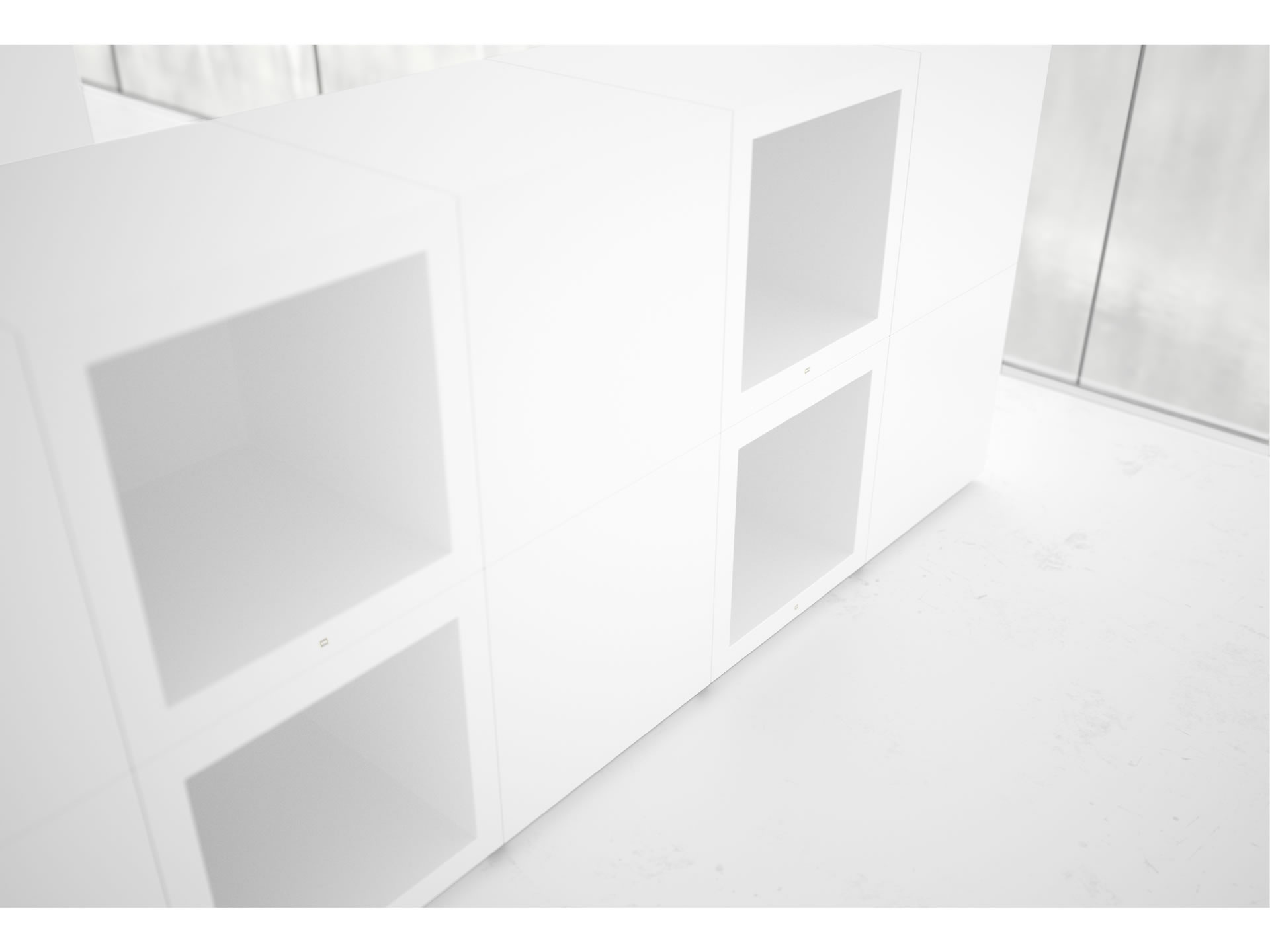FELIX SCHWAKE SHELVE I Customize White Cube Wallmounted Shelve