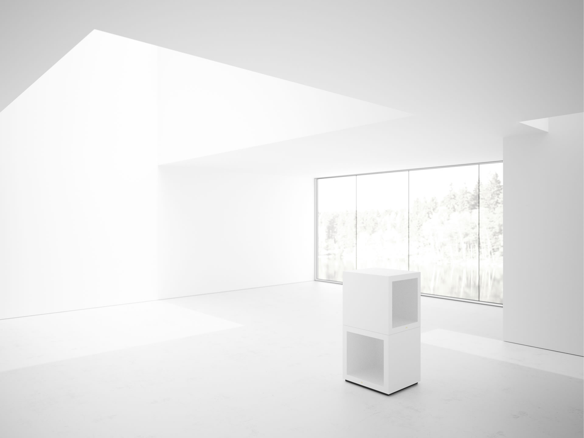 FELIX SCHWAKE SHELVE I II Cultivate White Lectern Closed