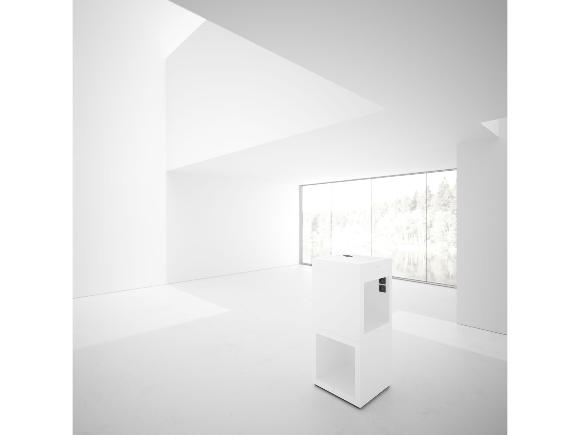 FELIX SCHWAKE SHELVE I II Timeless White Lectern Closed