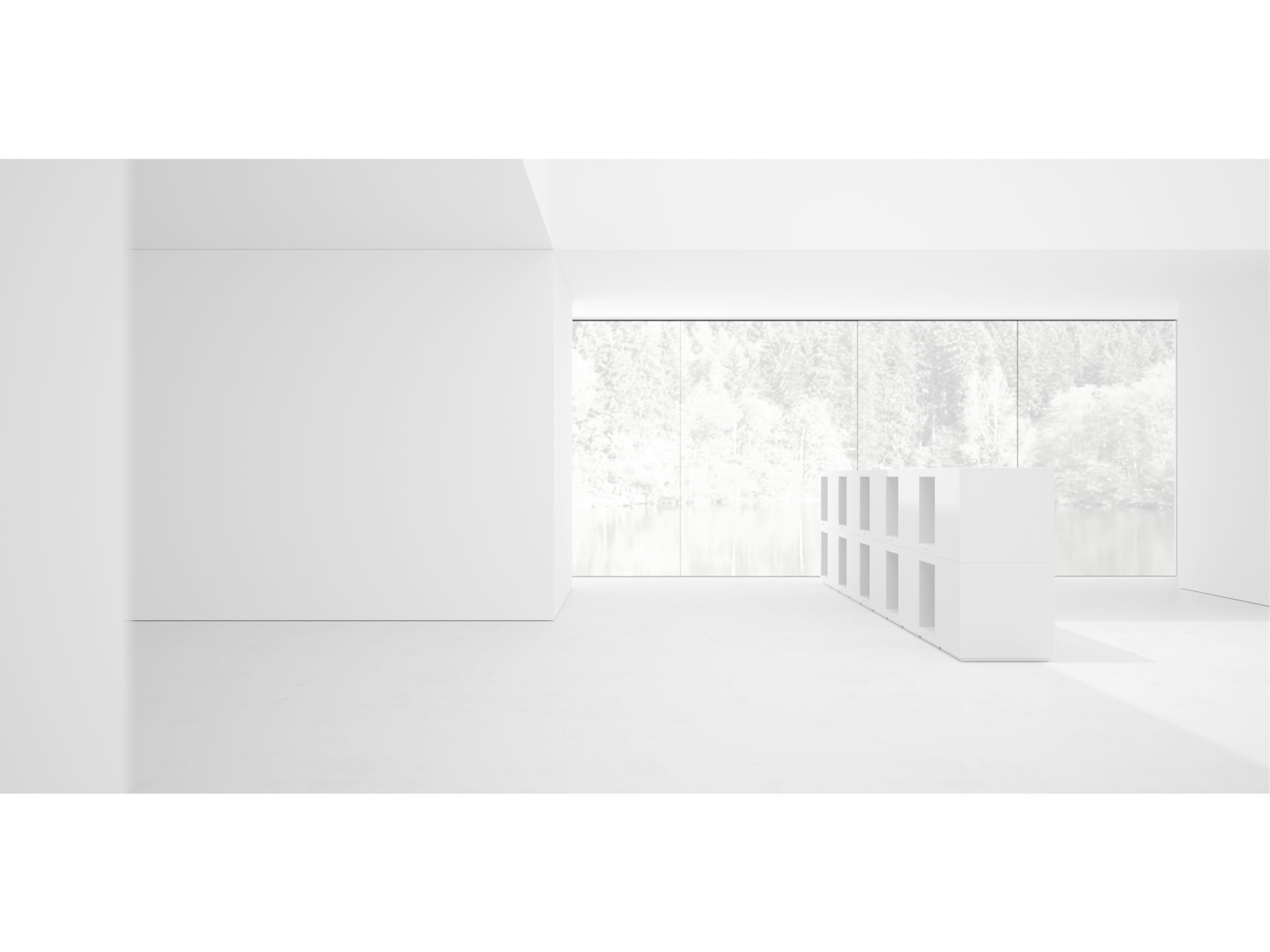 FELIX SCHWAKE SHELVE I Innovation White Cube Wallmounted Shelve