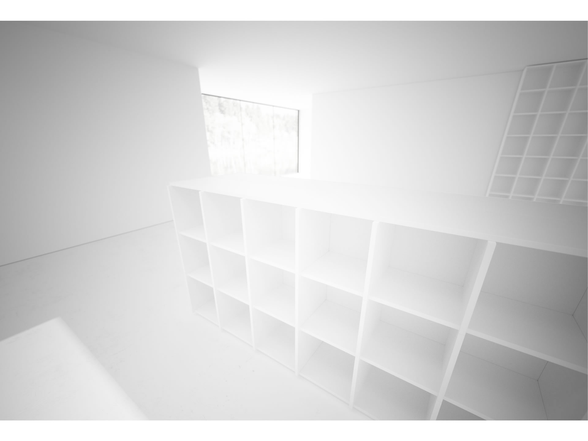 FELIX SCHWAKE SHELVE III Nobel White Shelve Ceiling High