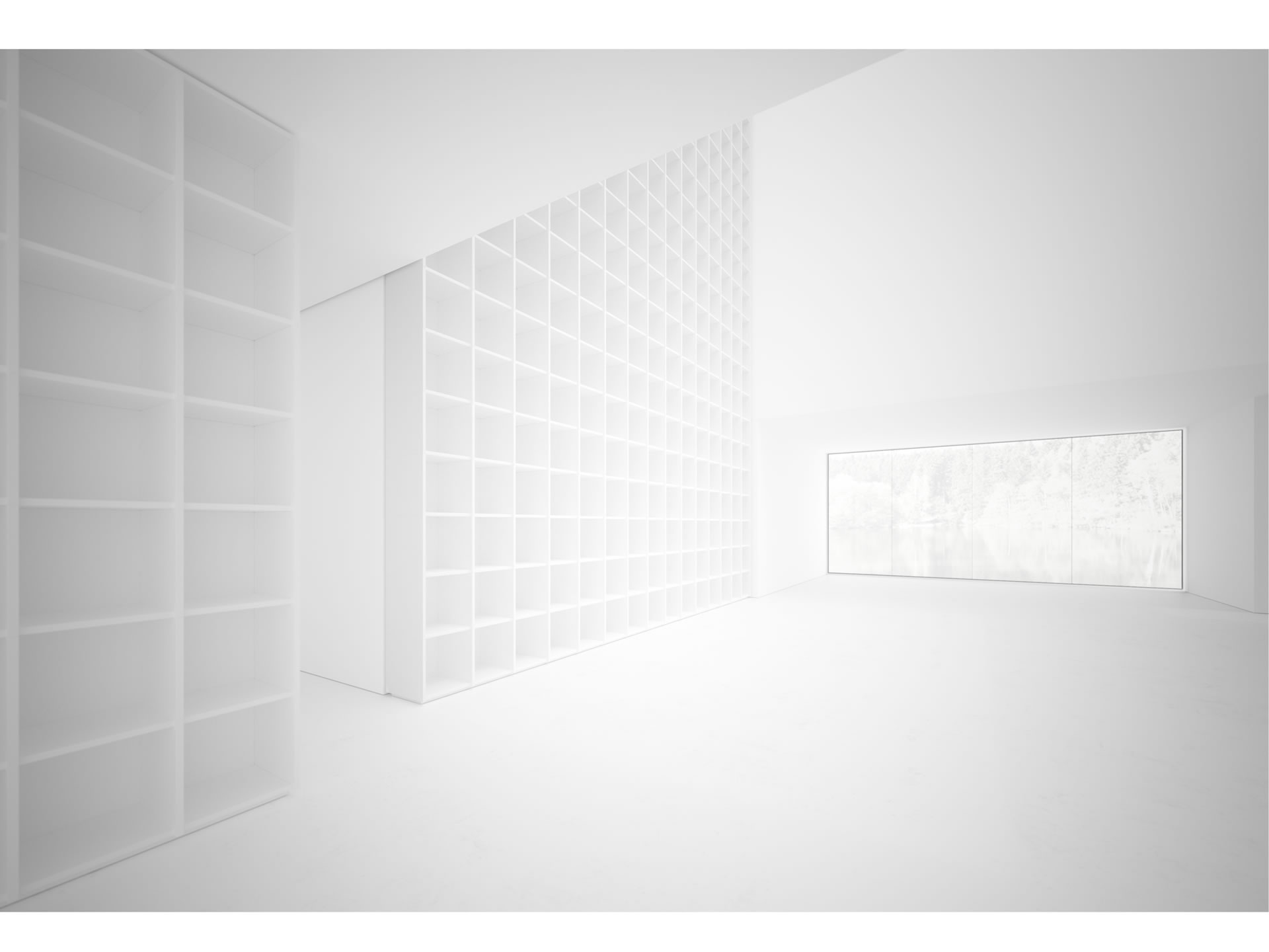 FELIX SCHWAKE SHELVE III Timeless White Shelve Ceiling High