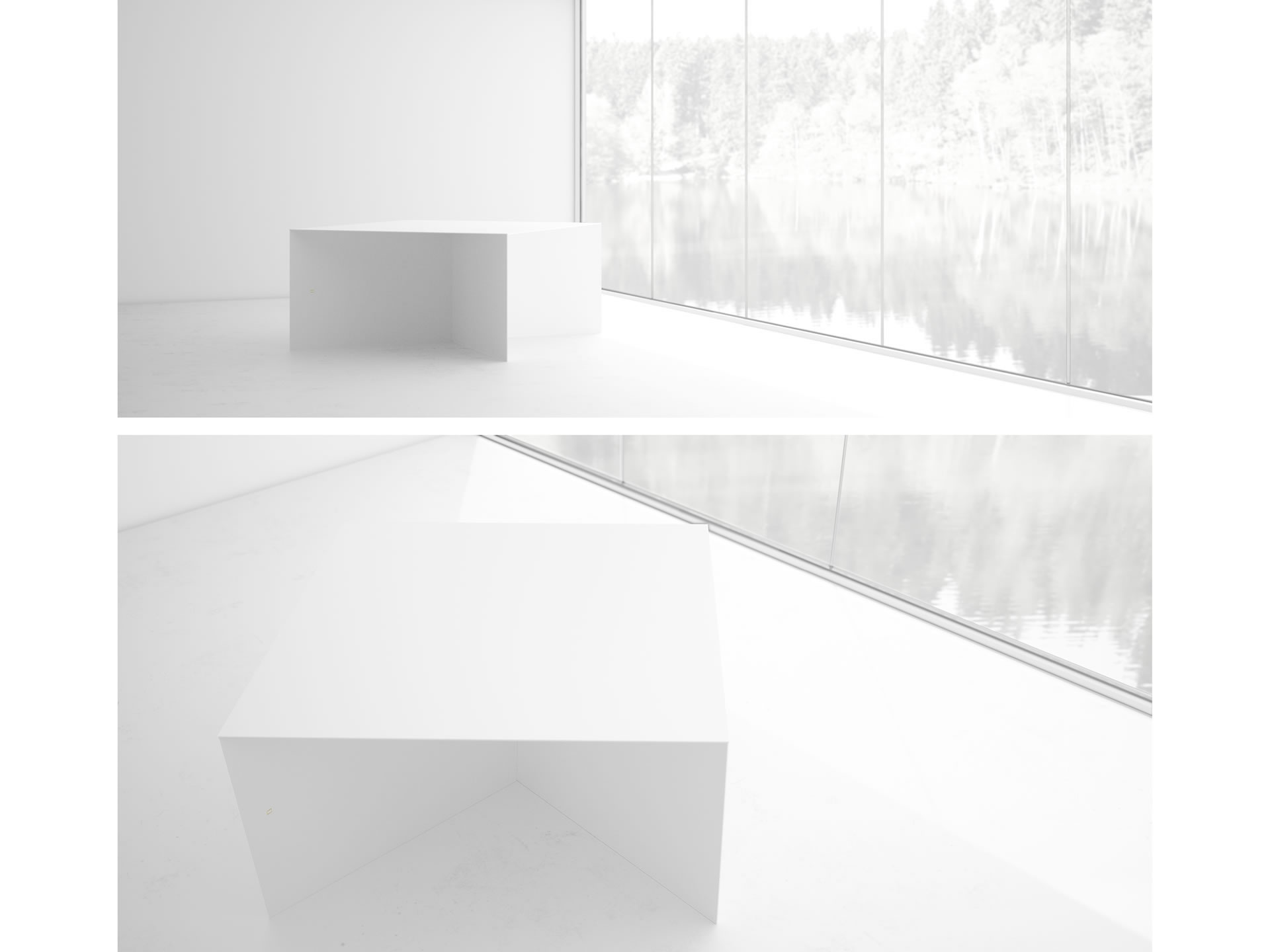 FELIX SCHWAKE TABLE IV Cultivate White Table with X Legs