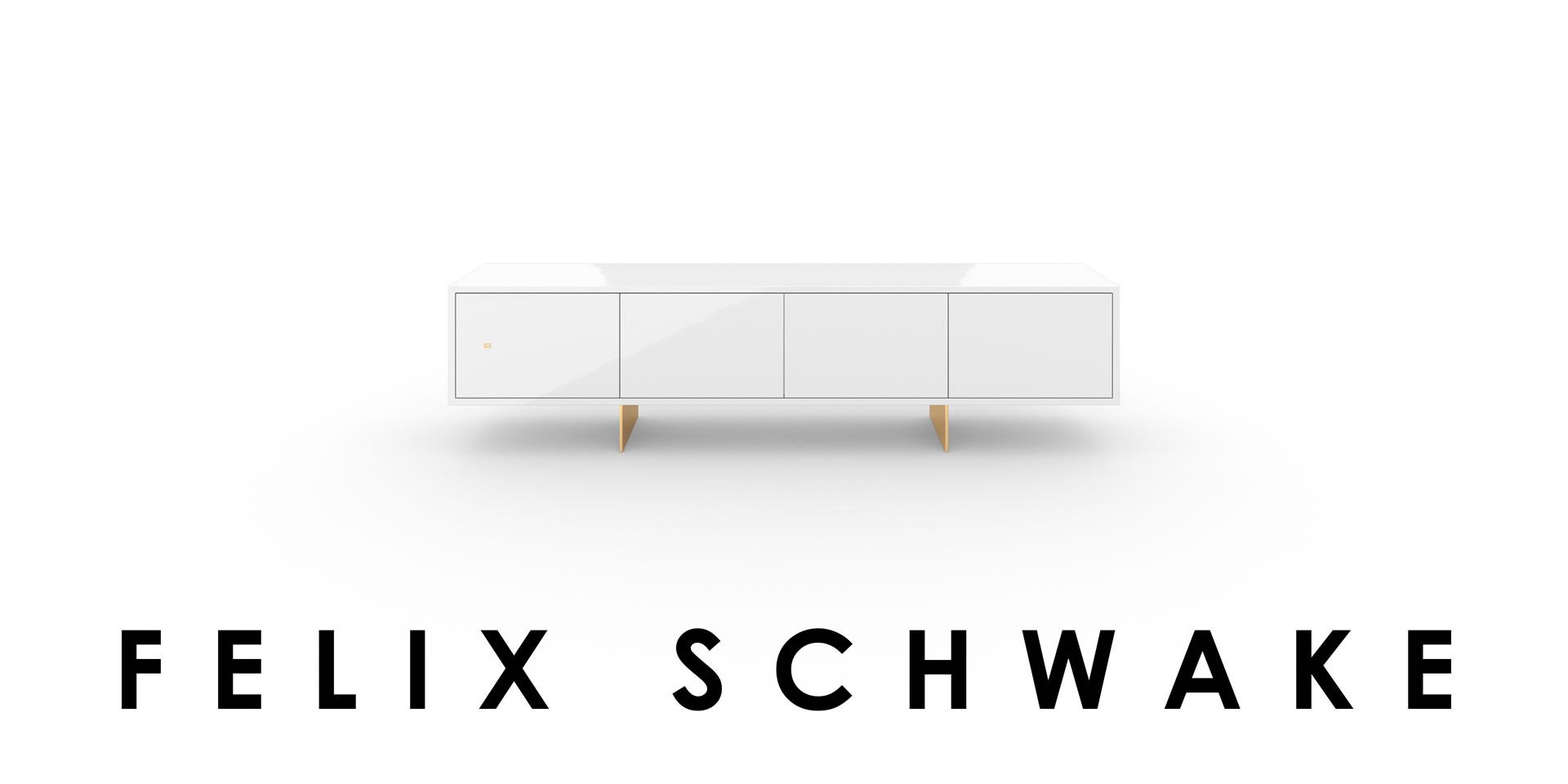Design Lowboard White Piano Lacquer Felix Schwake